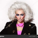 Woman with 80s style makeup — Stock Photo