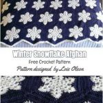 Winter Schneeflocke afghanische Musteride #Häkeln #winterafghanidea # afghanische #hakeln #musteride #schneeflocke