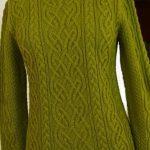 sweter z aranami | druty | Stricken, Häkeln i Stricken und Häkeln