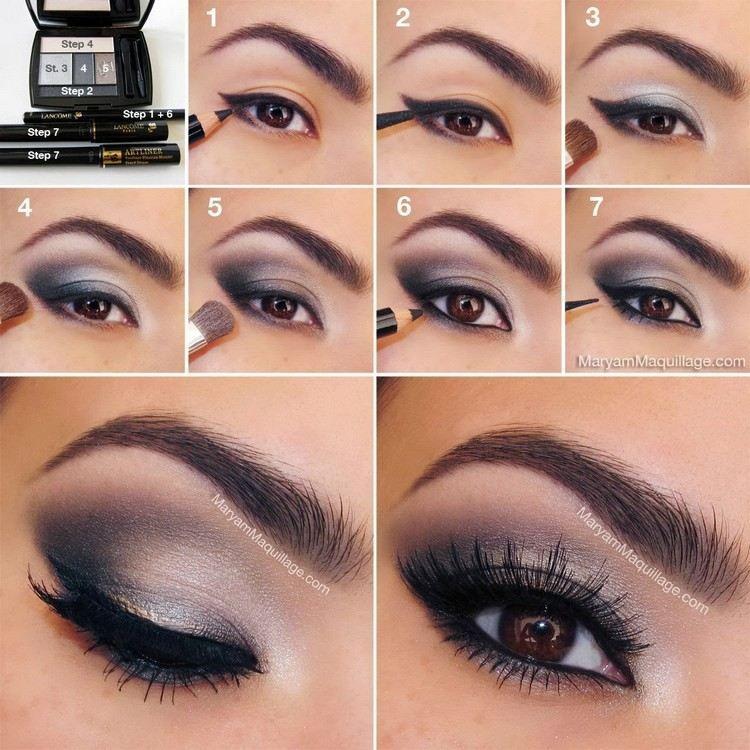 Wie Sie sich durch Augen   Make-up schön machen können