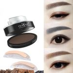Großhandel Augenbrauen Pulver Augen Make Up Augenbrauen Stempel Seal Marken  Wasserdicht Grau Braun Augenbrauen Pulver Mit Augenbrauen Schablonen Pinsel
