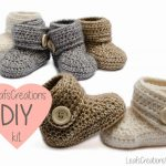 DIY+kit+/+Häkeln+kit+baby+boots+schuhe++von+LeafsCreations+auf+Traveller Location