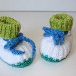 Strickanleitung Baby-Booties, Patentmuster, Sohlenlänge ca. 9 cm, 0 - 5  Monate aus Wollresten
