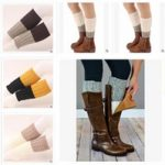 beinwärmer stiefelbezug stricken großhandel-Neueste Heiße Winter Beinlinge  Gestrickte Fußsocken Boot Cuff Frauen Winter Warme