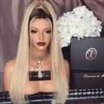 2019 berühmtheit ombre haar Fashion Promi # 1b / 613 Two Tone Mongolian  reines Haar Perücken