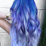 Haar Blau Lila Pastell