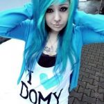 pic+of+youtubers+girls+emo | wo gibt es blaue haarfarbe???