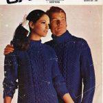 damen / herren aran pullover strickmuster PDF chunky damen aran jumper crew  n .