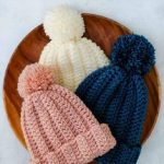 1 Hour Knit-Look Beanie Crochet pattern by Jess Coppom Make & Do Crew  Nadel. NadelHandarbeitAnleitungenSchnittmusterHäkeln Beanie MusterEinfach