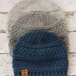 Einfache Seed Stitch Beanie häkeln Hut Muster für Männer, Frauen und Kinder  in 4 Größen