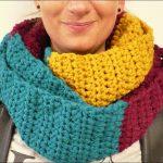Häkeln für Anfänger   Loop Schal für den Herbst super einfach in drei  Farben   Colour 9-