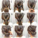 eine schnelle und einfache Frisur für die Hochzeit in neun Schritte  Hochzeit Hochsteckfrisur