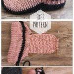 Knitted slippers the best gift Ferse Stricken, Stricken Und Häkeln, Einfache  Strickprojekte, Socken