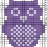 Owl knit/crochet chart More