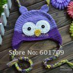Heißer Verkauf Kids Anleitung Mütze häkeln Beanie handgefertigten OWL OWL  Kappe Kinder Eulen-Hut 20pcs