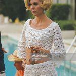 Former fashion model Helen Dzo Dzo at the Kaufmann Desert House in Palm  Springs California January