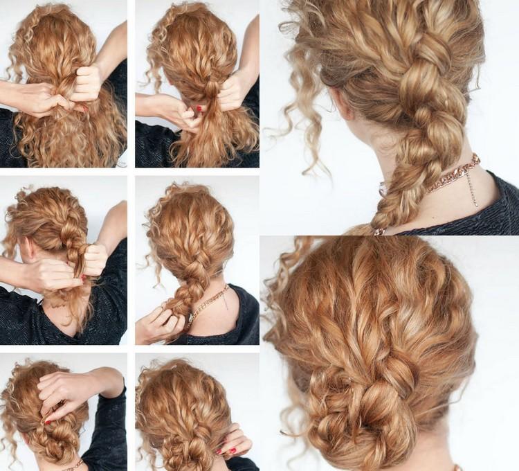 Frisuren für lockiges Haar:   Machen Sie es einfach zu tragen