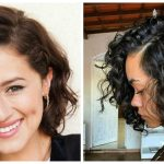 Frisuren für lockiges Haar 2019, stilvolle Bob Frisur auf lockigem Haar 2019