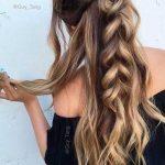 Lange geflochtene Frisuren