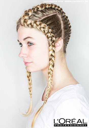 Holen Sie sich einen frischen   Frühling mit geflochtenen Frisuren