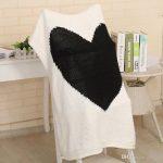 Liebe Herz Muster handgemachte Decke Wolle dicke Linie Garn Baumwolle  Baby gestrickte Decken Bettwäsche Quilt Sofa