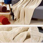 100 x150cm einfarbig grid muster 100% baumwolle dobby gestrickte decke  werfen gewinde decke sofa decke