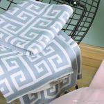Großhandel Luxus Designer Decke Geometrische Muster Hochwertige Baumwolle  Material Gestrickte Decke Schal Heimtextilien Dekorative Decke 120 * 160cm  Von