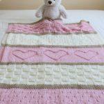 Baby-Decke-Muster stricken Decke Muster Herz von TheKnittingCloset