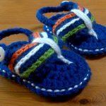 Freies verschiffen, Baby Schuhe Häkeln Muster Jungen Sommer Schuhe  Gestrickte Flip Flops für Babies Newborn Hausschuhe Size9cm, 10 cm, 11 cm  in Freies