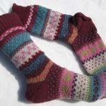 Bunte Socken Ylvie Gr. 39/40 - gestrickte Socken Fair Isle