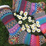 Bunte Socken Selin Gr. 38/39 - gestrickte Socken in nordischen Fair Isle