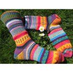 Accessoires :: Strumpfwaren :: Socken :: Bunte Socken lykke Gr. 38/39 - gestrickte  Socken in knallbunten Farben