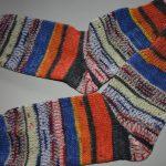 37- 38 gestrickte Socken Opal Hundertwasse Regentag Wellen