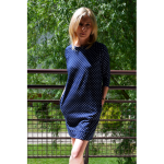 CARRIE - gestrickte Tunika - Marineblau in Tupfen - Sisters (www