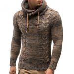 herren gestrickter hoodie Rabatt Hoodies 2018 der Mensweatshirts Herbst  Winter gestrickte Männer Hoodies große Größe schwarz