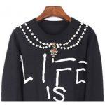 schwarz gestrickter hoodie Rabatt Frauen Harajuku Pullover stricken Tops  Weihnachten Herbst Winter Start-und Landebahn