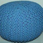 Sitzsack Grau Gestrickter Puff - Essentials Knittet Pouf 60x460x40cm  Baumwolle