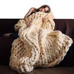 Decke stricken Wolle Garn Stricken Decke Handgemachte Klobige