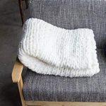 Yiyida Decke Wolle Garn Stricken Decke Handgemachte Klobige