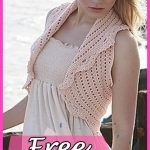 Peach Perfection Bolero Crochet Free Pattern Fashion DIY Shrug |  Häkelkleidung | Pinterest | Crochet, Free crochet und Free pattern