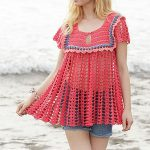 187-40 Holiday Feeling pattern by DROPS design | Häkelkleidung | Pinterest  | Crochet, Crochet patterns und Knit patterns