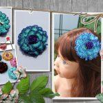 Haarschmuck-Haarspange-Häkelblume