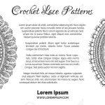 Runde gestrickte Muster. Skizzieren Sie gehäkelte Textur, handgefertigte  Spitzen Dekorationen. Es gibt copyspace