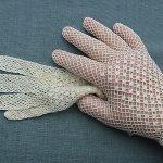 1 Paar Original antike Häkelhandschuhe - aus Uromas Fundus -aus der Zeit um  1920