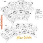 Blusa Calada con hilo de algodón con patrones y explicaciones. Diagramm,  Häkeln Crochet,