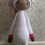 süßes EINHORN Häkelpuppe HÄKELTIER Puppe gehäkelt HANDARBEIT Amigurumi