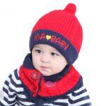 2018 kleinkind winter häkelhut schal Baby Winter Warm Knit Hat Schal Set  2pcs niedliche Kleinkind Kind