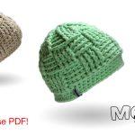 Basketweave Beanie - Mütze im Korbmuster häkeln