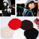 häkeln barett mütze Rabatt Großverkauf - 30 PC + Neuzugang Dame Winter Warm  Gestrickte Crochet Slouch