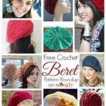 10 Free and Beautiful Beret Crochet Patterns   Crochet Hat Patterns   Häkeln,  Stricken, Häkeln crochet